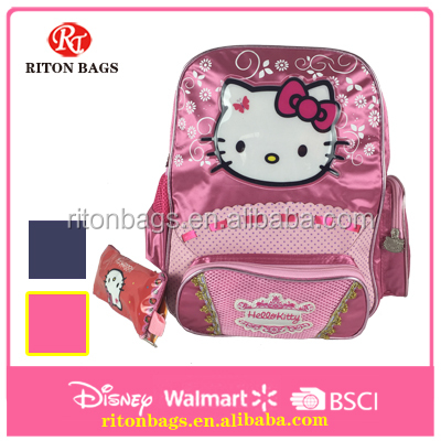 cute design hello kitty kids school bag with pencil case
