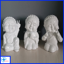 unpainted resin statue for home decoration