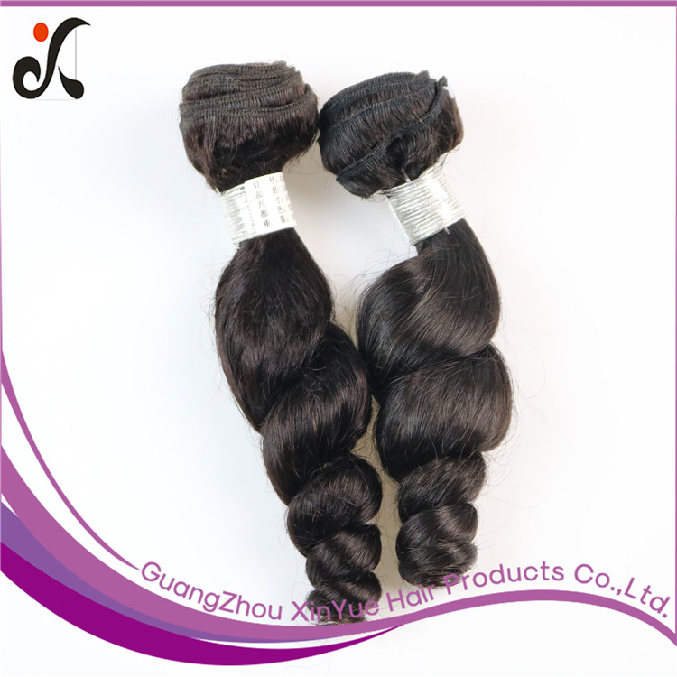 Unprocessed Virgin Indian Loose Wave Long Human Hair Natural Color