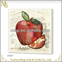 Rectangle Canvas Apple Oil Painting For Bedroom