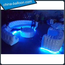 giant led lighting inflatable sofa/ inflatable table/ custom inflatable furniture for sale