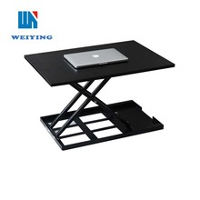 Manual folding easy working height adjustable computer desk riser
