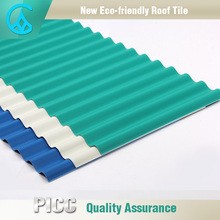 PVC Plastic Thermal Insulation Spanish Roof Tiles For Sale