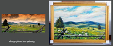 create impression oil painting from photograph landscape 03