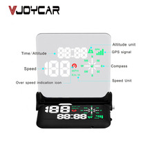 Popular Universal Security Device Overspeed Warming 5V Voltage Big Screen LED Speedometer Head Up Display Car GPS Hud