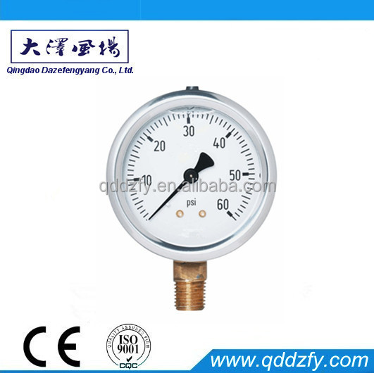 Pressure gauge psi natural gas level gauge