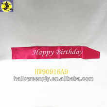 "33""x4"" Happy Birthday Rose Sash Popular Party Favor"