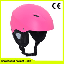 custom OEM CE EN1078 pink snow helmet for adult women and kids