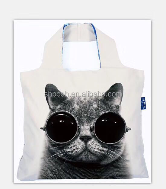 fashionable cool cat young people shopping bags