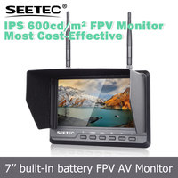 "7"" FPV monitor IPS screen 600cd/m2 brightness 5.8ghz wireless video transmitter receiver with channel auto scan"