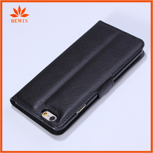 book style flip wallet leather case for iphone5c