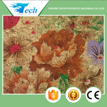 53% cork, 45% T/C cloth and 2% glue printing natural cork fabric lady bag and shoe material