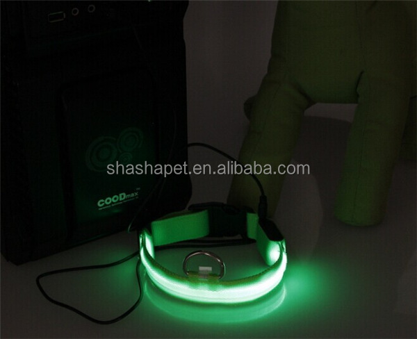 Collier de chien Rechargeable, Recharge collier d'animal familier, Recharge LED collier de chien