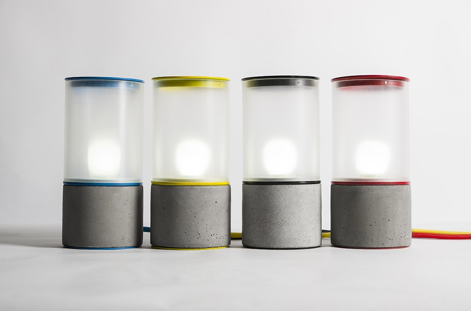 Ri Table lamp cement product design by BENTU desk lamp