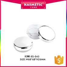 Fashion luxury plastic 10g empty loose powder compact case with sifter