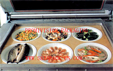 Seafood vacuum skin packaging machine, seafood vacuum skin pack machine