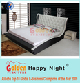 Foshan factory italian furniture hydraulic double bed