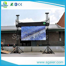 Sgaier factory cheap price 2 legs small stage backdrop truss LED screen Display truss