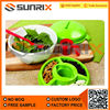 Salad Container Bowl Set With Attachable Fork and Dressing Cup