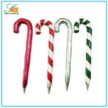Fashionable new arrival Christmas gifts resin walking stick ballpoint pens