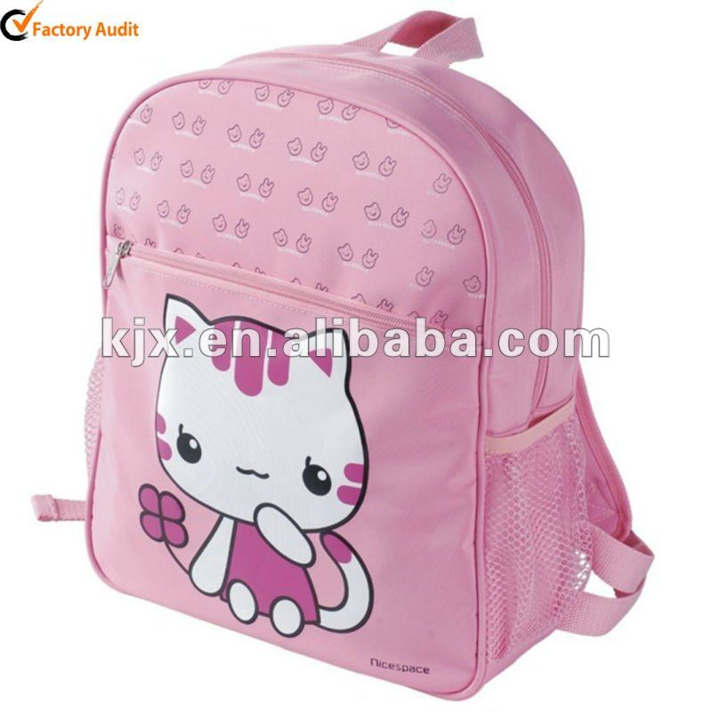 For Girls Hello Kitty School Bag pink color