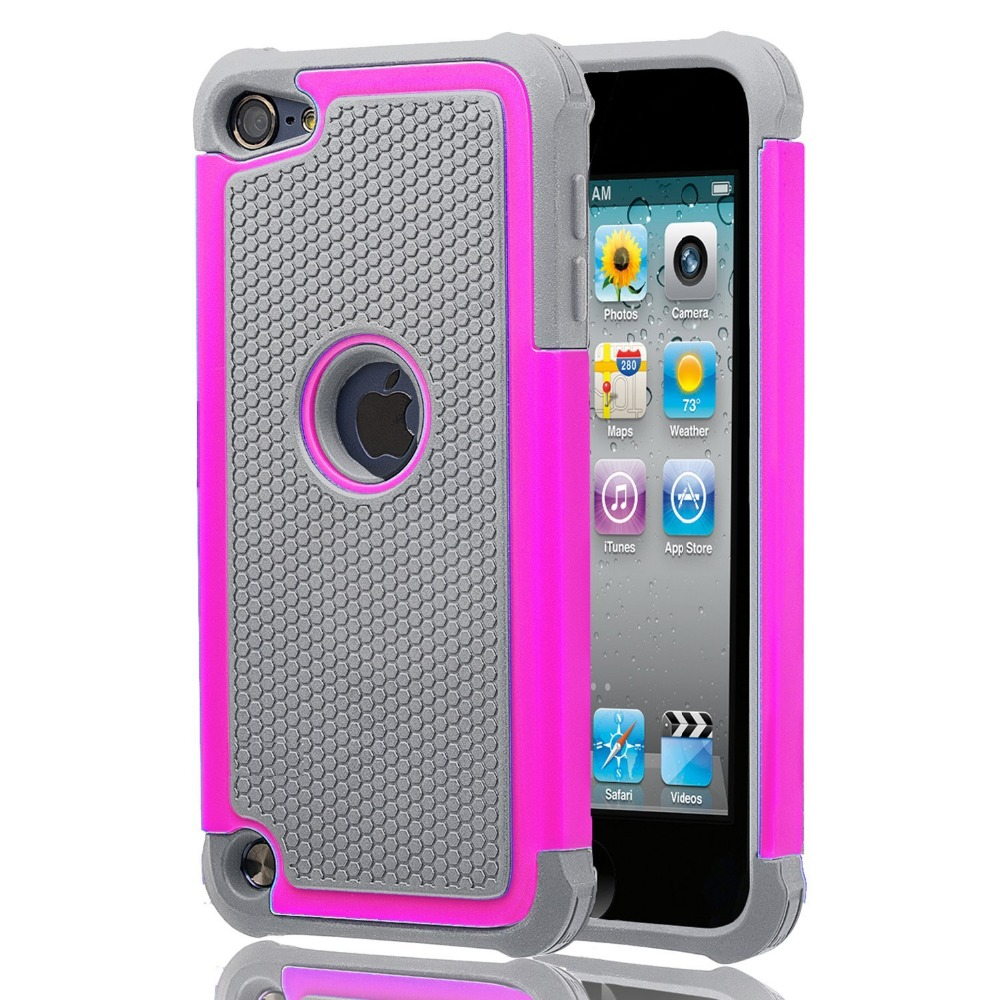 Wholesale Thin Protective Anti-dirt Scratch Resistant Hard Soft Heavy Duty Rubber Bumper Case Cover For iPod Touch 5