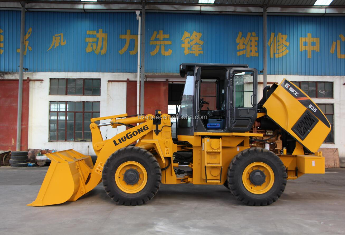 Liugong 3 ton Small Wheel Loader CLG835 front end loader on sale