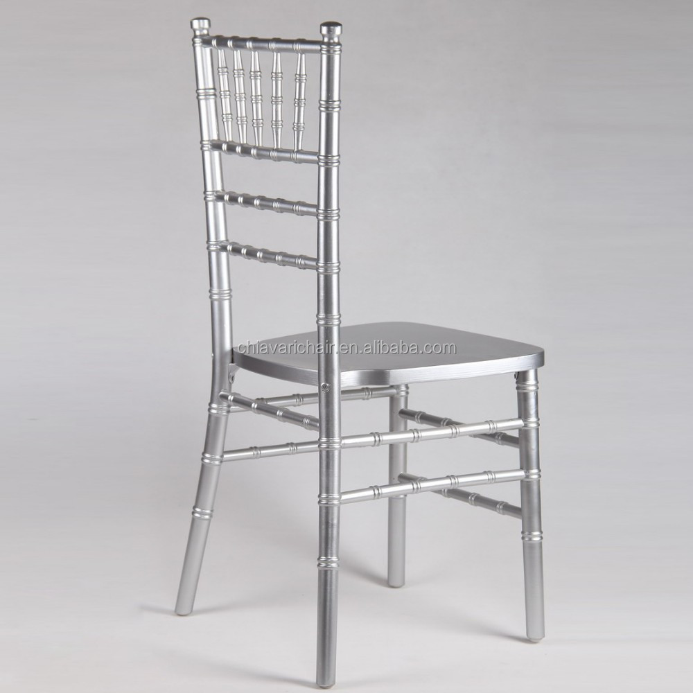 Hotel Stronger Big Thick Legs Silver Color Solid Wood Chiavari Ballroom Chairs
