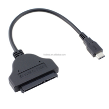 USB 3.1 Type C to SATA 7+15 22Pin Adapter Cable for 2.5/3.5 inch HDD Hard Disk Drive