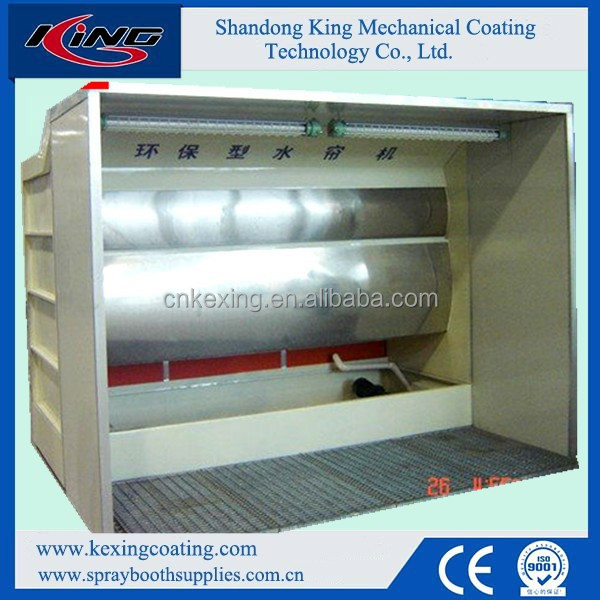 Wet spray painting booth