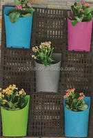 decorative colorful plastic vertical planter green wall