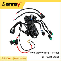 PCB Adapter Type Silicone Rubber wiring harness for honda civic fog lights with DT connector