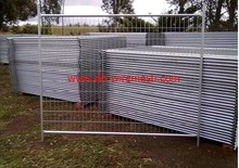 Galvanized temporary fence panels