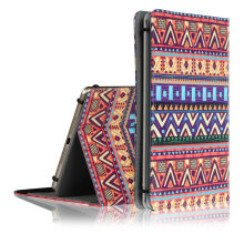 C&T Tribal Universal Portable Foldable PU Leather Stand Case Flip Folio Protective Cover Skin for 7 inch Tablet