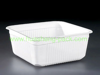 disposable tableware colored square plastic storage serving box tray type