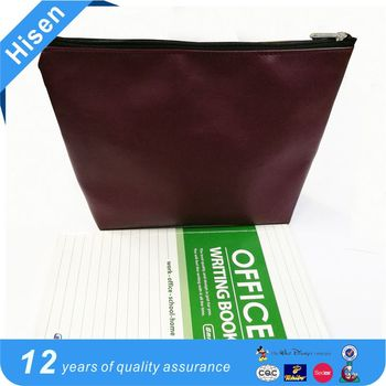 Wine red pu economic toiletry bag