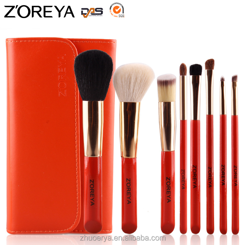 <strong>beauty</strong> need high quality makeup brushes ,free sample makeup brush set 8 pcs ,animal hair make up brush with bag