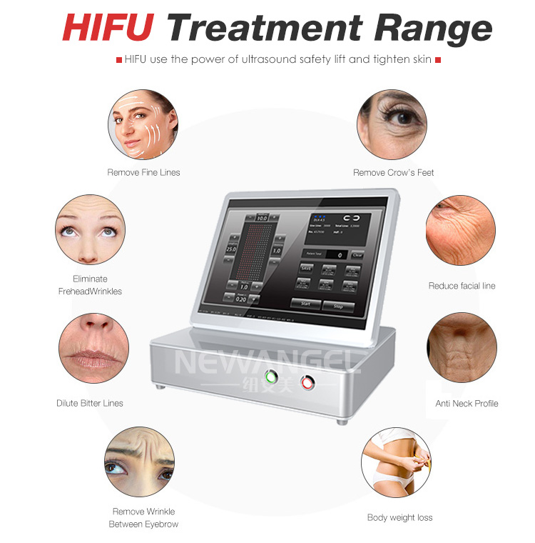 3D HIFU high intensity wrinkle removal hifu skin tightening machine