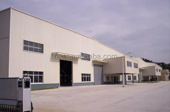 Cost Saving Steel Frame Industrial Workshop Roof Design