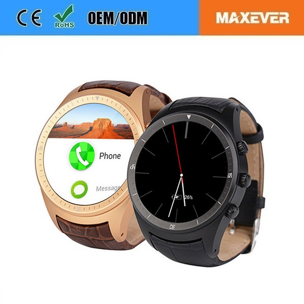 Whole sale1.4 Inch IPS Touch Screen Android 4.4 3G WiFi watch mobile phone K18