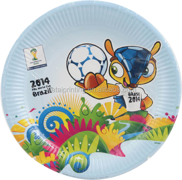 Custom printing party kids food paper plates manufacturing