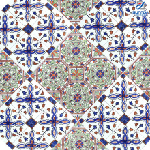 China 30x30cm Hot Sale Dubai Price New Design Traditional Flower Mexican ceramic porcelain tiles for flooring decoration