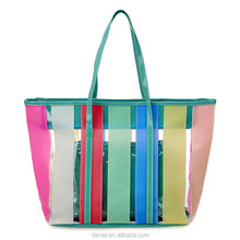 women beach bags 2017 new style summer candy PVC clarity bags handbags