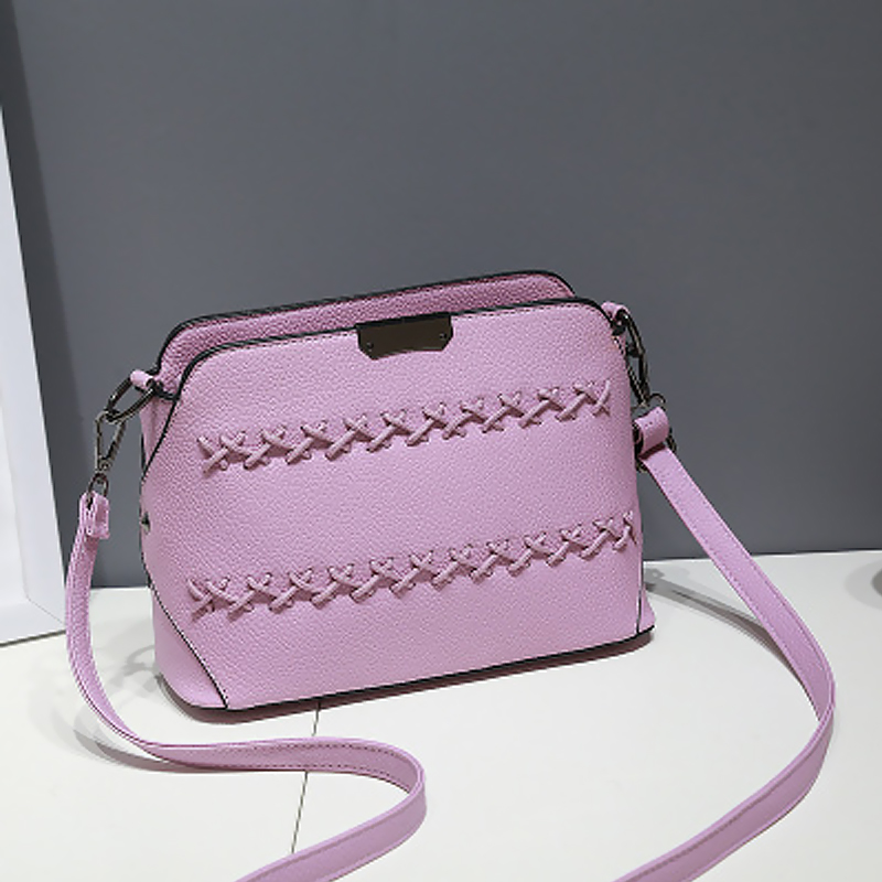 New pink color lady bags beautiful women PU leather handbag