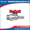 male thread and hose connector ball cock for gas and malleable cast iron gas valve with butterfly handle