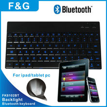 backlight 9.7 tablet pc leather case bluetooth keyboard