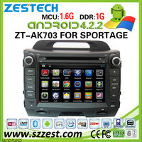 ZESTECH car dvd player for KIA Sportage car dvd player DVR Android 4.2.2 capacitive multi touch screen