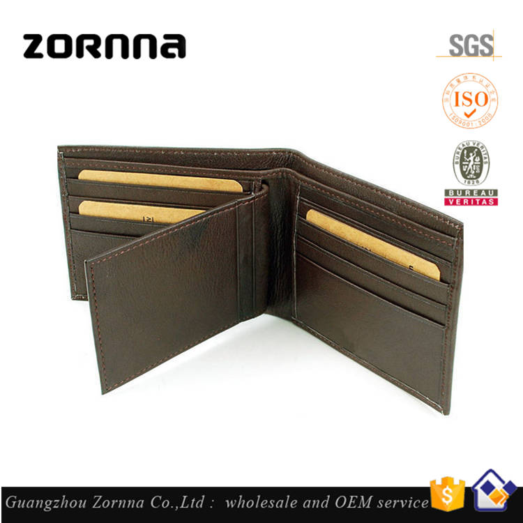 China Factory High Capacity Compact Bifold Gents Anti Theft Alarm Rfid Leather Wallet