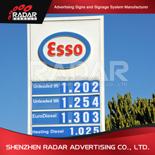 outdoor gas station led sign for oil company