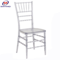 Factory Price Chinese PC Resin Tiffany Transparent Chiavari Chair Plastic Chairs For Wedding